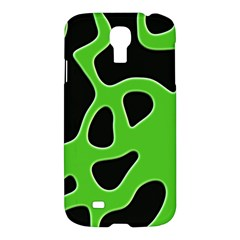 Black Green Abstract Shapes A Completely Seamless Tile Able Background Samsung Galaxy S4 I9500/i9505 Hardshell Case by Simbadda