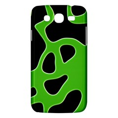 Black Green Abstract Shapes A Completely Seamless Tile Able Background Samsung Galaxy Mega 5.8 I9152 Hardshell Case