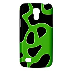 Black Green Abstract Shapes A Completely Seamless Tile Able Background Galaxy S4 Mini by Simbadda