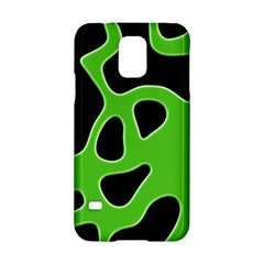 Black Green Abstract Shapes A Completely Seamless Tile Able Background Samsung Galaxy S5 Hardshell Case  by Simbadda