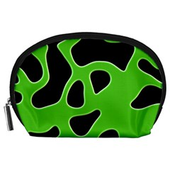 Black Green Abstract Shapes A Completely Seamless Tile Able Background Accessory Pouches (large)  by Simbadda