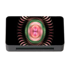 Fractal Plate Like Image In Pink Green And Other Colours Memory Card Reader With Cf by Simbadda