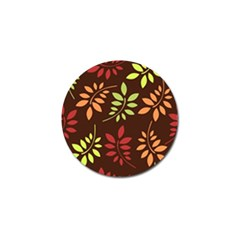 Leaves Wallpaper Pattern Seamless Autumn Colors Leaf Background Golf Ball Marker (10 Pack) by Simbadda