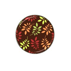 Leaves Wallpaper Pattern Seamless Autumn Colors Leaf Background Hat Clip Ball Marker (4 Pack) by Simbadda