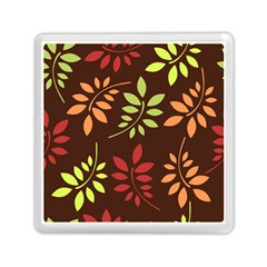 Leaves Wallpaper Pattern Seamless Autumn Colors Leaf Background Memory Card Reader (square)  by Simbadda