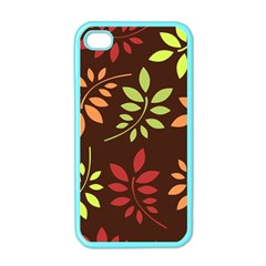 Leaves Wallpaper Pattern Seamless Autumn Colors Leaf Background Apple Iphone 4 Case (color) by Simbadda