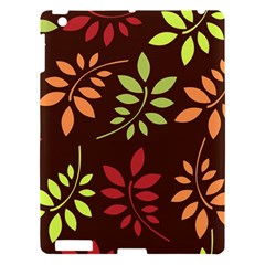 Leaves Wallpaper Pattern Seamless Autumn Colors Leaf Background Apple Ipad 3/4 Hardshell Case by Simbadda