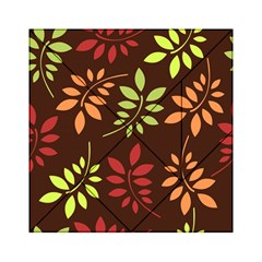 Leaves Wallpaper Pattern Seamless Autumn Colors Leaf Background Acrylic Tangram Puzzle (6  X 6 ) by Simbadda
