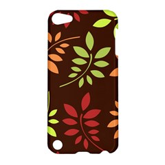 Leaves Wallpaper Pattern Seamless Autumn Colors Leaf Background Apple Ipod Touch 5 Hardshell Case by Simbadda
