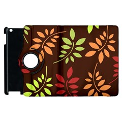 Leaves Wallpaper Pattern Seamless Autumn Colors Leaf Background Apple Ipad 2 Flip 360 Case by Simbadda