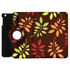 Leaves Wallpaper Pattern Seamless Autumn Colors Leaf Background Apple Ipad Mini Flip 360 Case by Simbadda