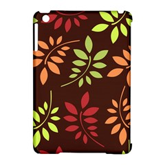 Leaves Wallpaper Pattern Seamless Autumn Colors Leaf Background Apple Ipad Mini Hardshell Case (compatible With Smart Cover) by Simbadda