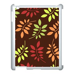 Leaves Wallpaper Pattern Seamless Autumn Colors Leaf Background Apple Ipad 3/4 Case (white) by Simbadda