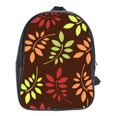 Leaves Wallpaper Pattern Seamless Autumn Colors Leaf Background School Bags (xl)  by Simbadda