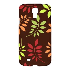 Leaves Wallpaper Pattern Seamless Autumn Colors Leaf Background Samsung Galaxy S4 I9500/i9505 Hardshell Case by Simbadda