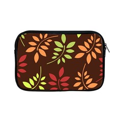 Leaves Wallpaper Pattern Seamless Autumn Colors Leaf Background Apple Ipad Mini Zipper Cases by Simbadda
