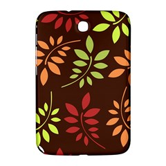 Leaves Wallpaper Pattern Seamless Autumn Colors Leaf Background Samsung Galaxy Note 8 0 N5100 Hardshell Case  by Simbadda