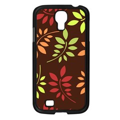 Leaves Wallpaper Pattern Seamless Autumn Colors Leaf Background Samsung Galaxy S4 I9500/ I9505 Case (black) by Simbadda
