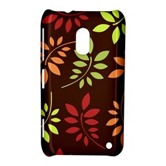 Leaves Wallpaper Pattern Seamless Autumn Colors Leaf Background Nokia Lumia 620 by Simbadda