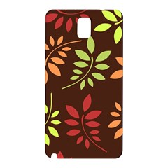 Leaves Wallpaper Pattern Seamless Autumn Colors Leaf Background Samsung Galaxy Note 3 N9005 Hardshell Back Case by Simbadda