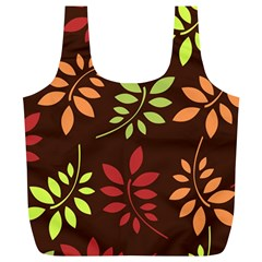 Leaves Wallpaper Pattern Seamless Autumn Colors Leaf Background Full Print Recycle Bags (l)  by Simbadda