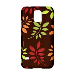 Leaves Wallpaper Pattern Seamless Autumn Colors Leaf Background Samsung Galaxy S5 Hardshell Case  by Simbadda
