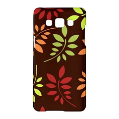 Leaves Wallpaper Pattern Seamless Autumn Colors Leaf Background Samsung Galaxy A5 Hardshell Case  by Simbadda