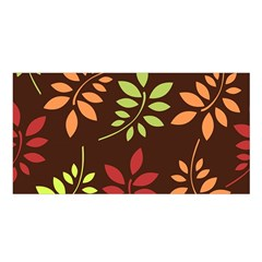Leaves Wallpaper Pattern Seamless Autumn Colors Leaf Background Satin Shawl by Simbadda