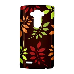 Leaves Wallpaper Pattern Seamless Autumn Colors Leaf Background Lg G4 Hardshell Case by Simbadda