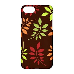 Leaves Wallpaper Pattern Seamless Autumn Colors Leaf Background Apple Iphone 7 Hardshell Case by Simbadda