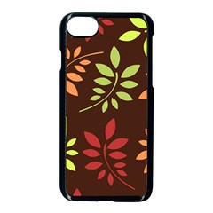 Leaves Wallpaper Pattern Seamless Autumn Colors Leaf Background Apple Iphone 7 Seamless Case (black) by Simbadda