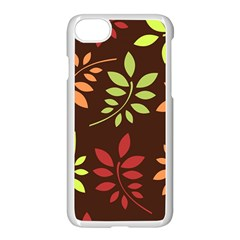 Leaves Wallpaper Pattern Seamless Autumn Colors Leaf Background Apple Iphone 7 Seamless Case (white) by Simbadda
