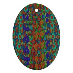 Sea Of Mermaids Ornament (oval) by pepitasart