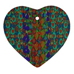 Sea Of Mermaids Heart Ornament (two Sides) by pepitasart