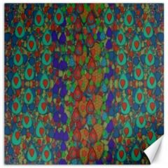 Sea Of Mermaids Canvas 12  X 12   by pepitasart