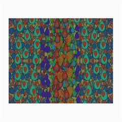 Sea Of Mermaids Small Glasses Cloth (2 Side) by pepitasart