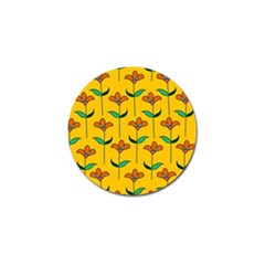 Small Flowers Pattern Floral Seamless Vector Golf Ball Marker by Simbadda