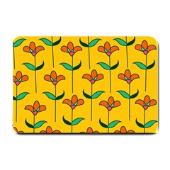 Small Flowers Pattern Floral Seamless Vector Small Doormat  by Simbadda