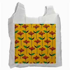 Small Flowers Pattern Floral Seamless Vector Recycle Bag (two Side)  by Simbadda
