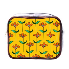 Small Flowers Pattern Floral Seamless Vector Mini Toiletries Bags by Simbadda