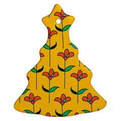 Small Flowers Pattern Floral Seamless Vector Ornament (christmas Tree)  by Simbadda