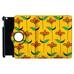 Small Flowers Pattern Floral Seamless Vector Apple Ipad 2 Flip 360 Case by Simbadda