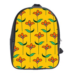 Small Flowers Pattern Floral Seamless Vector School Bags (xl)  by Simbadda