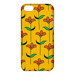 Small Flowers Pattern Floral Seamless Vector Apple Iphone 5c Hardshell Case by Simbadda