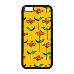 Small Flowers Pattern Floral Seamless Vector Apple Iphone 5c Seamless Case (black) by Simbadda