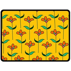 Small Flowers Pattern Floral Seamless Vector Double Sided Fleece Blanket (large)  by Simbadda