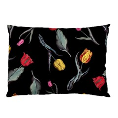 Colorful Tulip Wallpaper Pattern Background Pattern Wallpaper Pillow Case (two Sides) by Simbadda