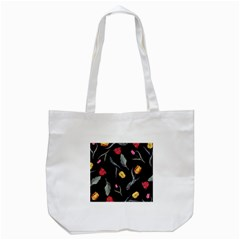 Colorful Tulip Wallpaper Pattern Background Pattern Wallpaper Tote Bag (white) by Simbadda