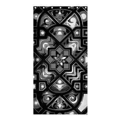 Geometric Line Art Background In Black And White Shower Curtain 36  X 72  (stall)  by Simbadda