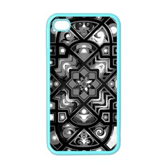Geometric Line Art Background In Black And White Apple Iphone 4 Case (color) by Simbadda